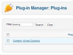 Content - Email Cloaking plugin