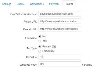 Configuration - PayPal