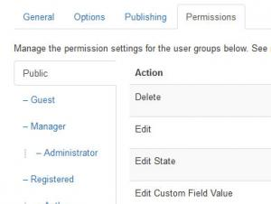 Setting up custom fields permissions