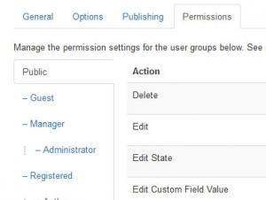 Setting up custom fields permissions