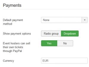 Payment configuration