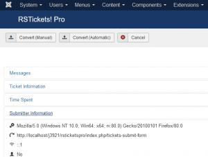 Backend Ticket Layout - Submitter Information tab