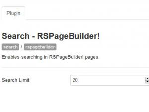 RSpageBuilder! Joomla! Search Plugin