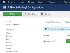 Layout and Optimization configuration tab