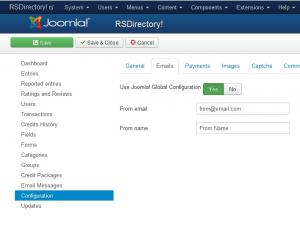 Configuration - Emails