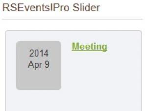 Slider Module Timeline