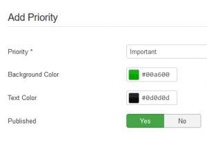 Add priority