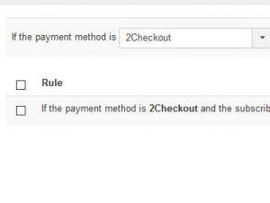 Payment rules