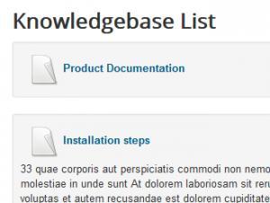 Knowledgebase list
