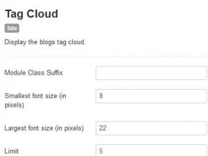 RSBlog! Tag Cloud Module