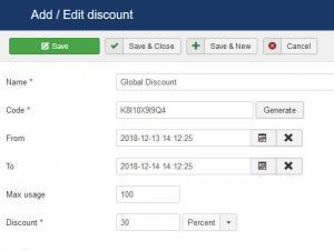 Global discounts