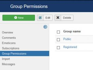 Group permissions
