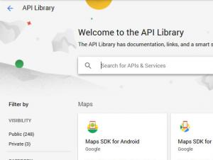 Search for the Safe Browsing API in the Library