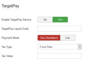 iDeal TargetPay configuration settings.