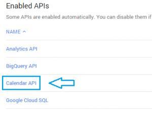 Console Google API