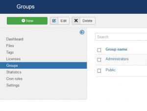 Group listing