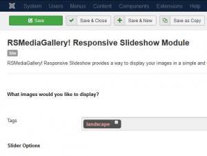 RSMediaGallery! Responsive Slideshow Module Configuration
