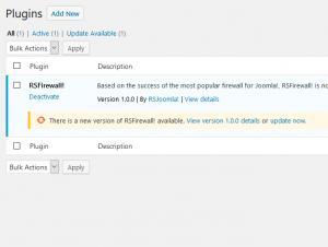 RSFirewall! Wordpress Update Automatically