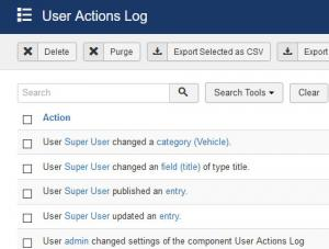 User Actions Log plugin