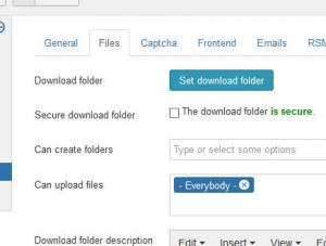 Files Settings