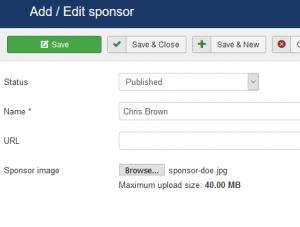 Add or edit a sponsor