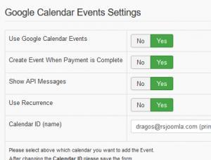 RSForm!Pro - Google Calendar