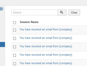 """The """"Sessions"""" tab"""
