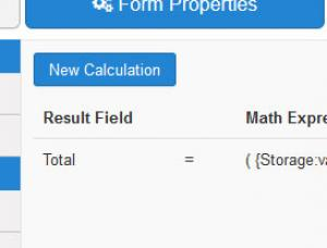 Adding a calculation equation in the backend area.