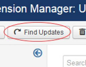 Find Updates Button