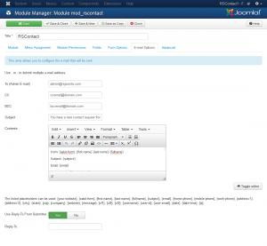 E-Mail Options tab