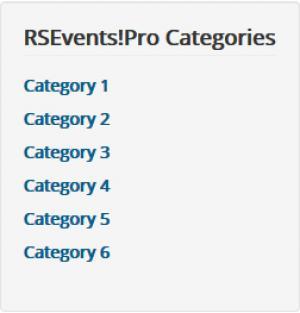 RSEvents!Pro Categories Module