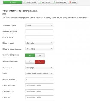 RSEvents!Pro Upcoming Events Module