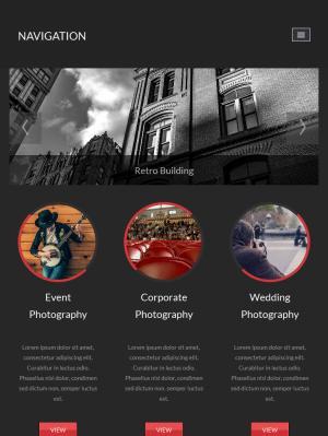 Homepage on iPad
