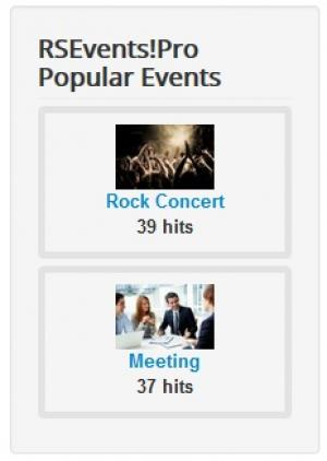 popular events module frontend