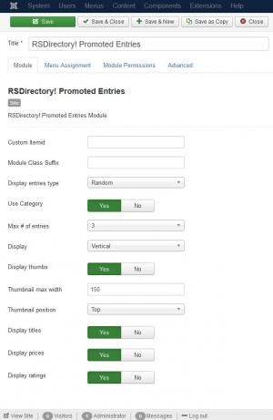 RSDirectory! Promoted Entries Module