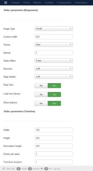 RSEvents!Pro Slider Parameters
