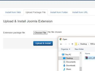 Joomla! upload file