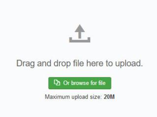 Drag and Drop or browse for the installation file