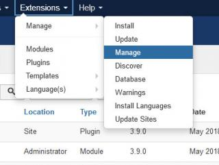 Joomla! Extensions Manager