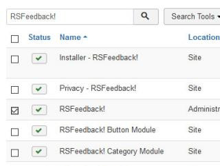 Select RSFeedback! and click on Uninstall button