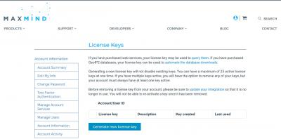 Generate a new license key