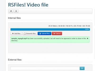 RSFiles! Uploading Video file