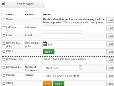 RSForm!Pro 1.51.2 Date and time picker