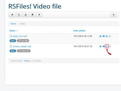 RSFiles! Preview Video file