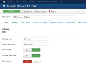 RSFedra! Configuration - Details tab