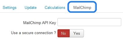 RSForm!Pro Configuration - Mailchimp