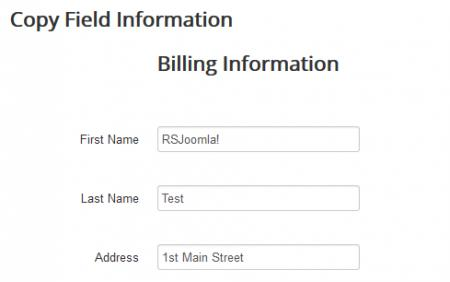 Copy Field Information