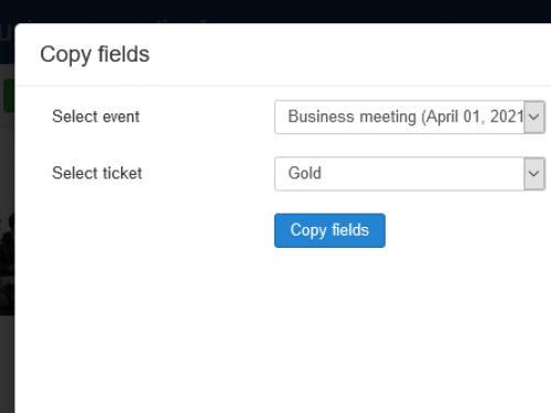 RSEvents!Pro Cart Plugin Copy Ticket Fields