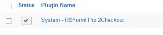 RSForm!Pro 2Checkout Install