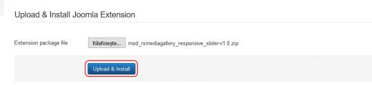 Install RSMediaGallery! Responsive Slider Module
